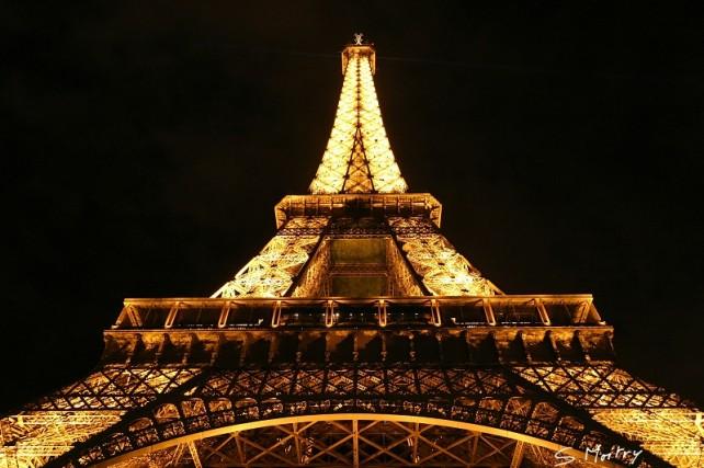 La Tour Eiffel, vue nocturne