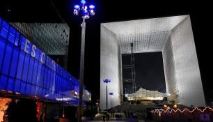 L'Arche de la Défense, vue nocturne