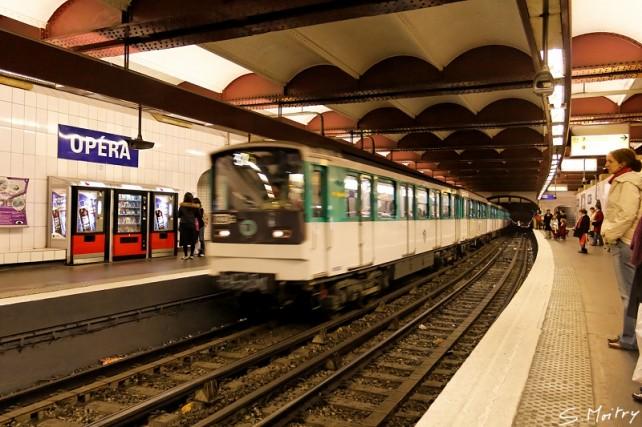 Métro parisien, station Opéra